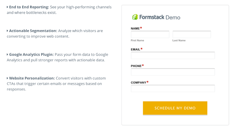 Formstack opt-in form example