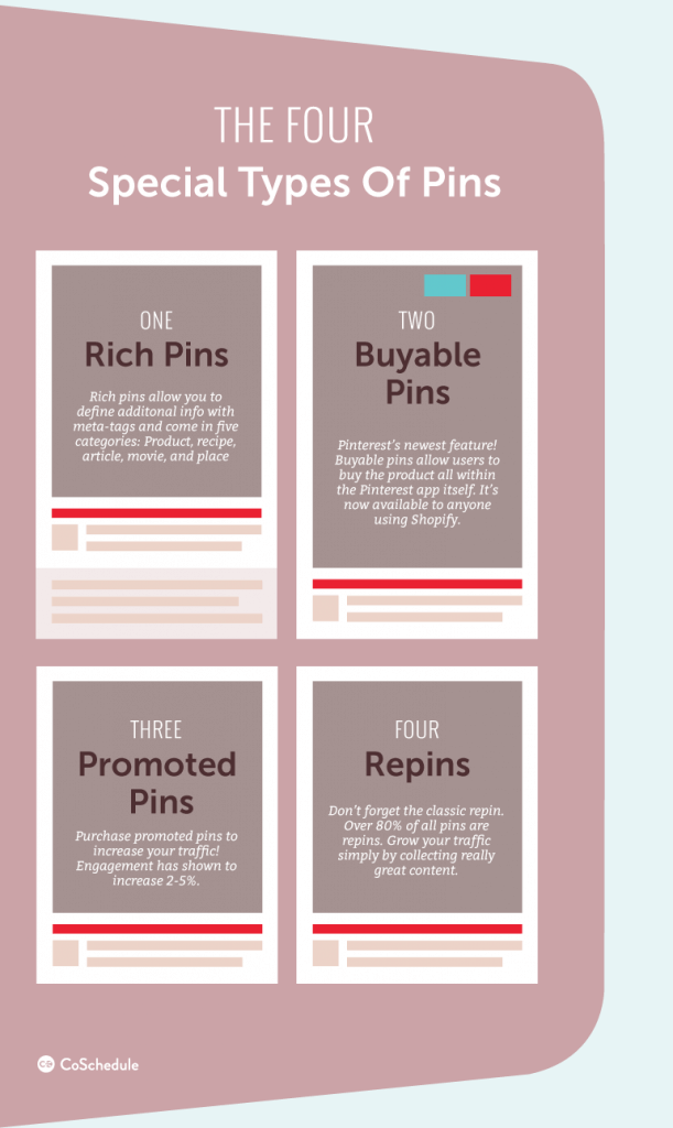 Four special types of pins