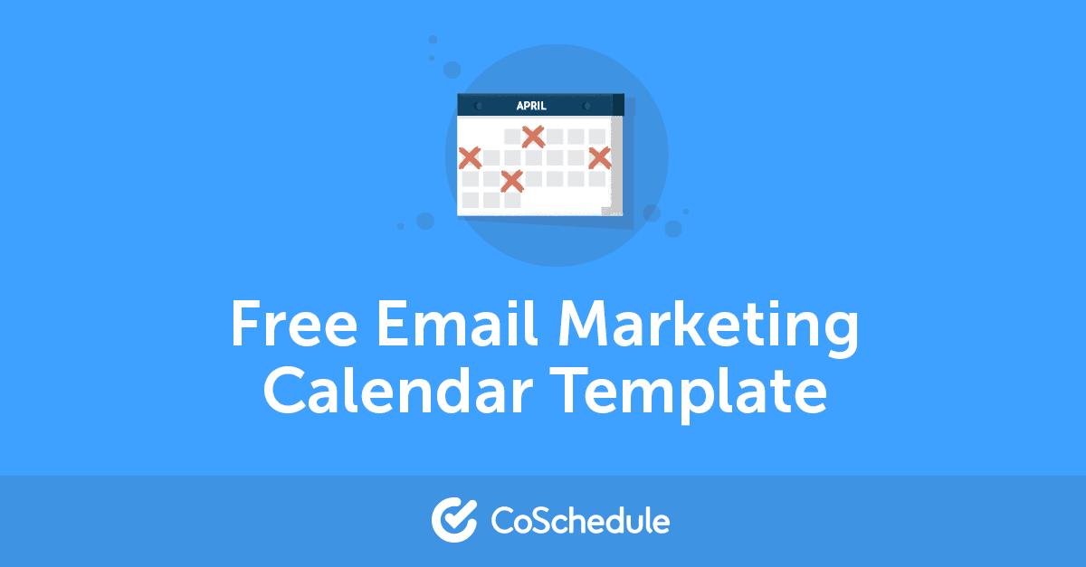 Free Email Marketing Calendar Template