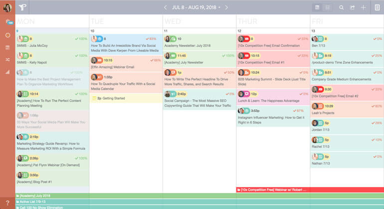 Add projects to your calendar to plan ahead and organize your entire marketing roadmap.