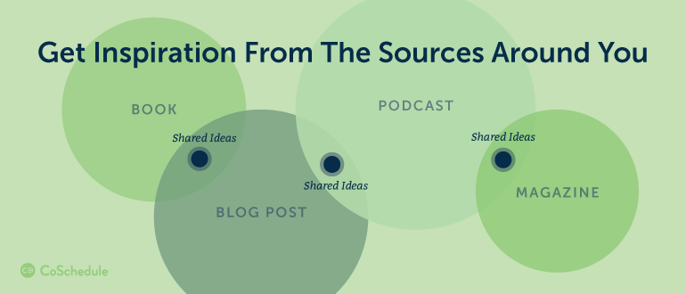 Get Inspiration From The Sources Around You
