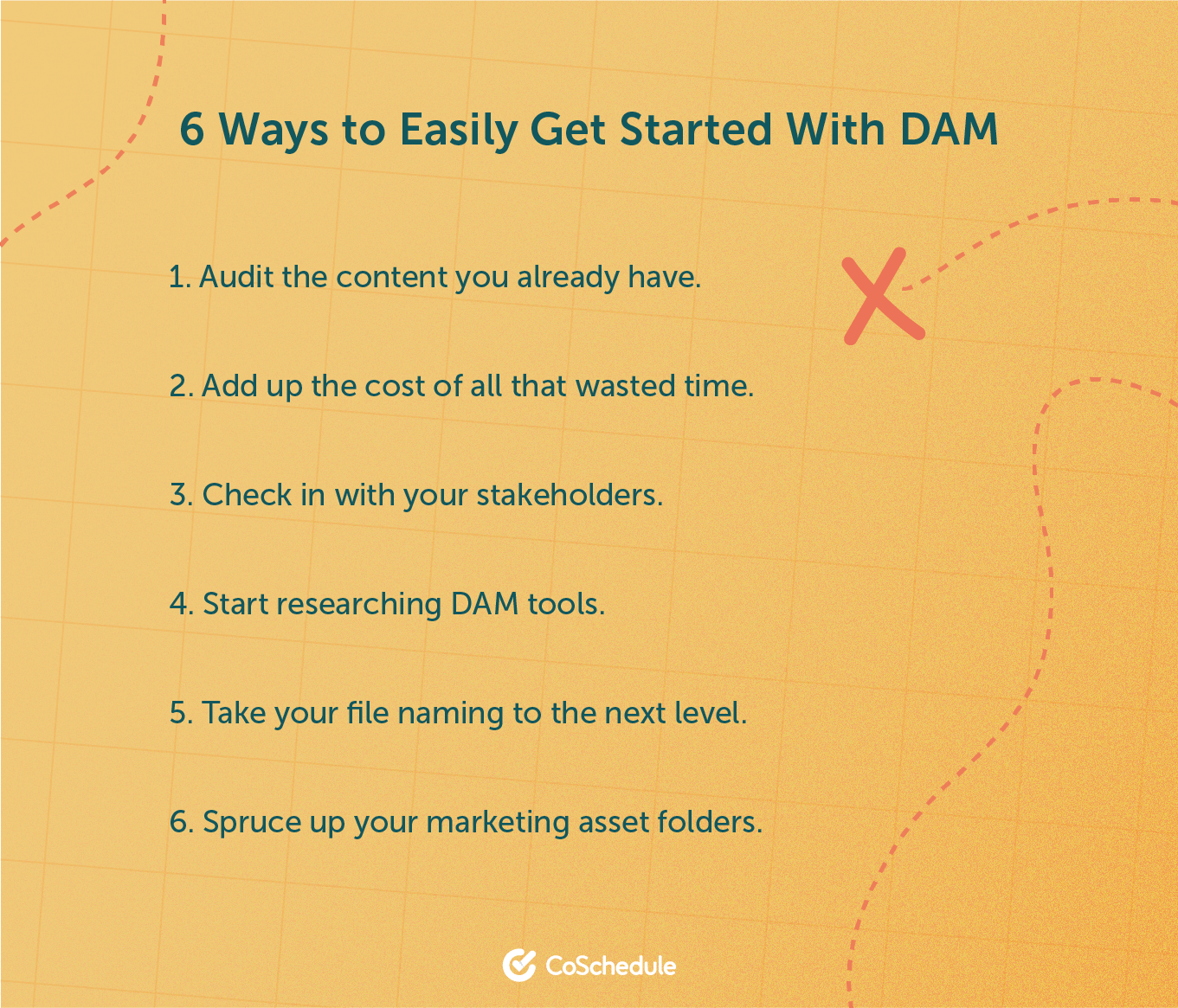 List of 6 ways to easily get started with DAM