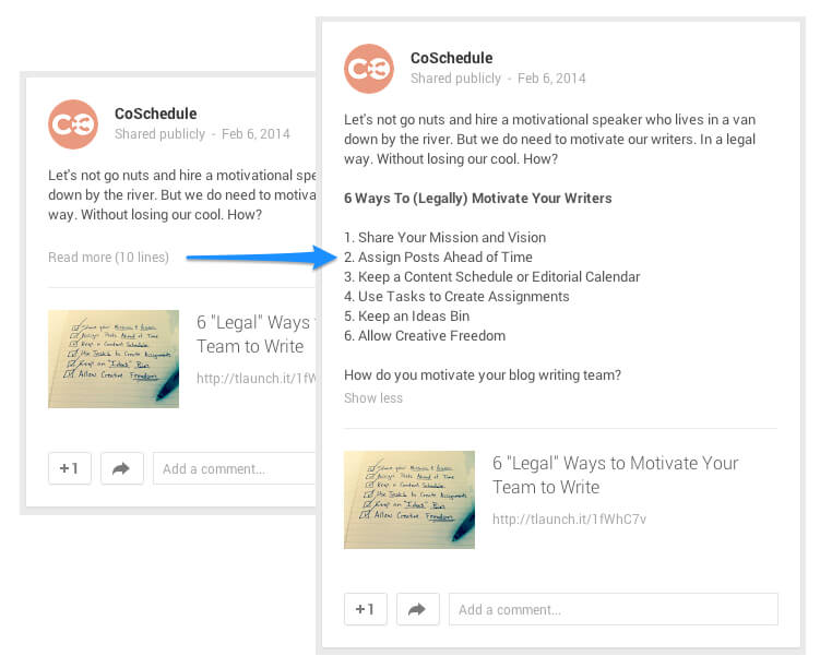 use markdown with Google+