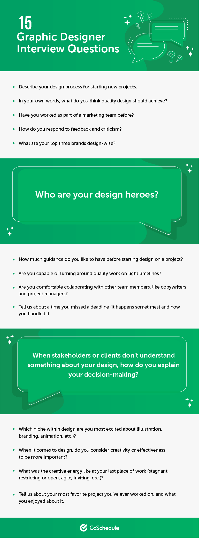 15 Graphic Designer Interview Questions