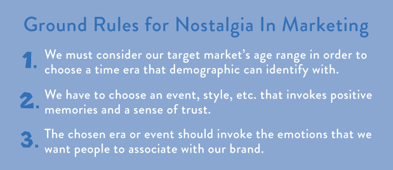 ground rules for nostalgic marketing