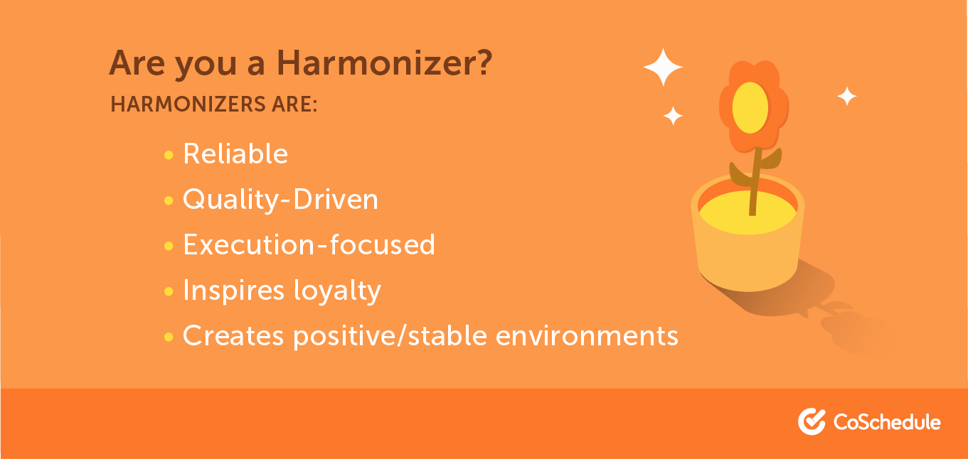 A list of traits that make up a harmonizer