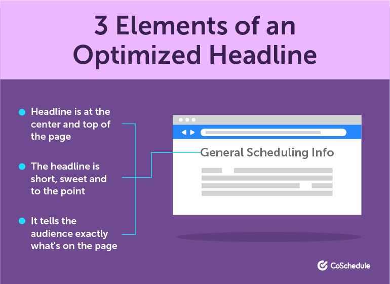 3 Elements of an Optimized Headline