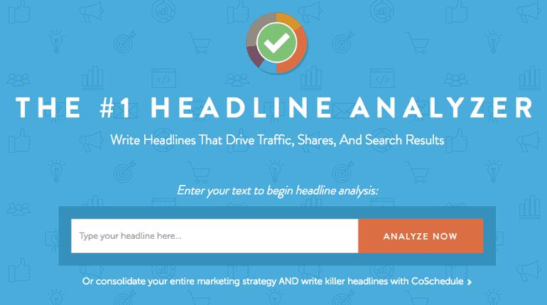 The Headline Analyzer from CoSchedule