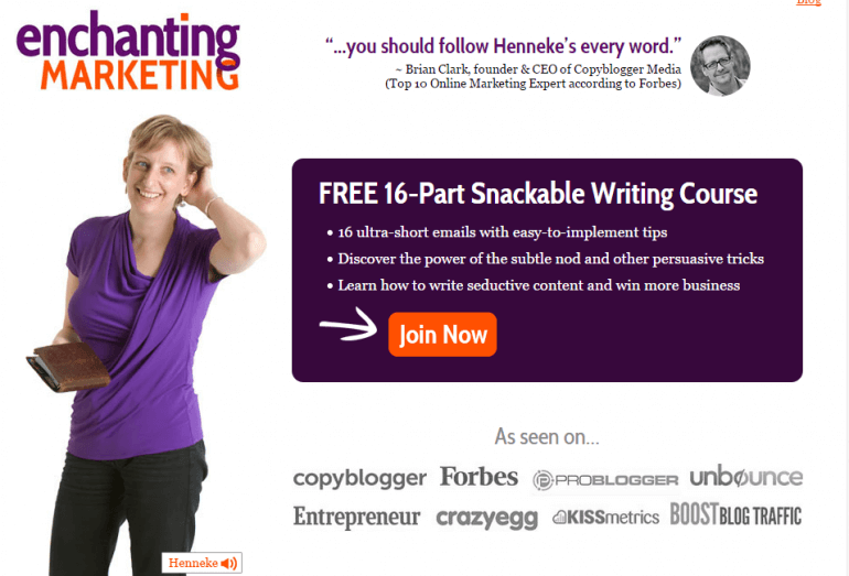 Henneke uses guest blogging as social proof