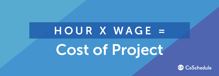 Hour X Wage = Cost of Project