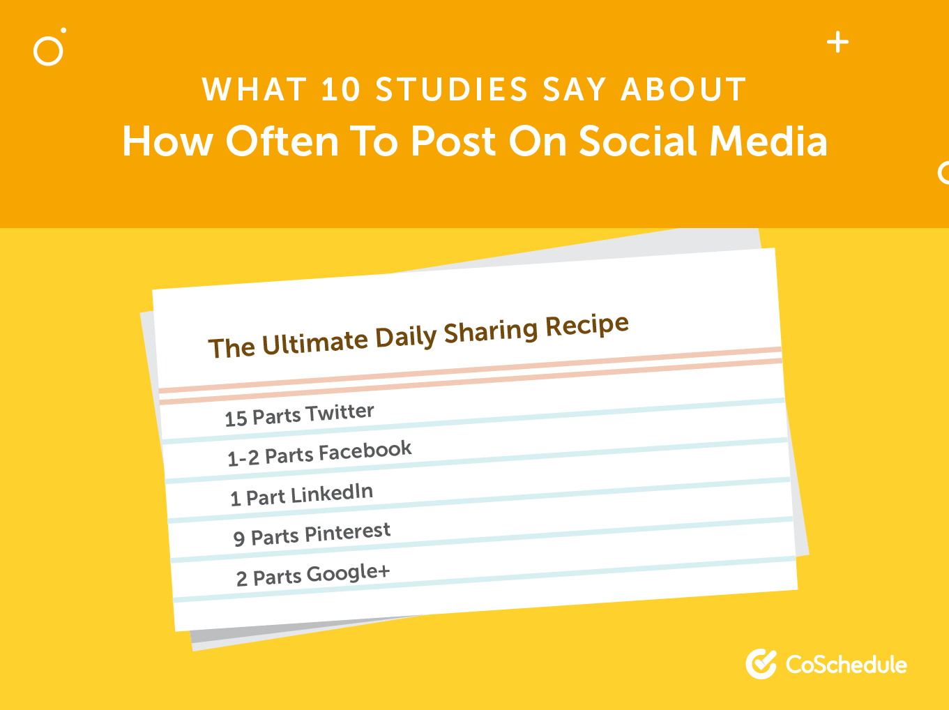 A Recipe for How Often to Post on Social Media