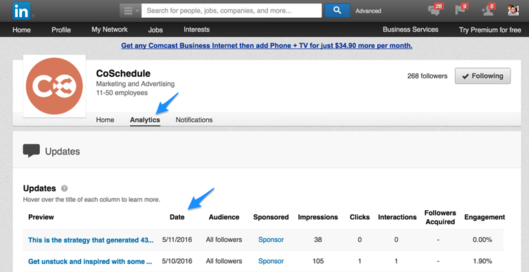 know how often to post on LinkedIn by analyzing your posts' engagement