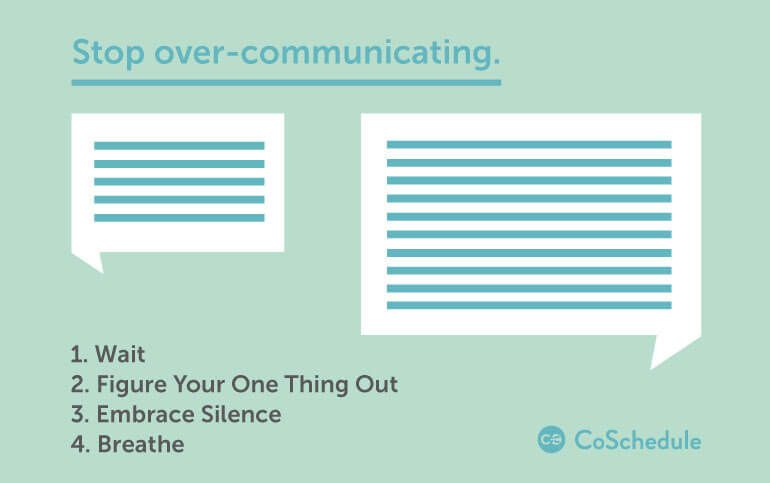 how to communicate with less (not over-communicating)