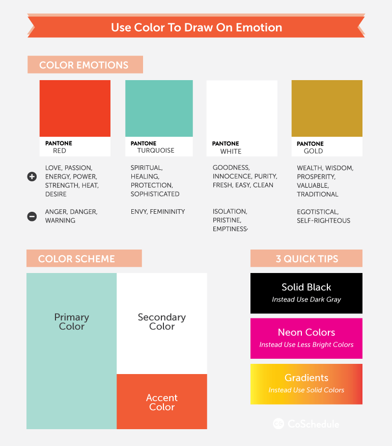 how to design blog graphics with color psychology