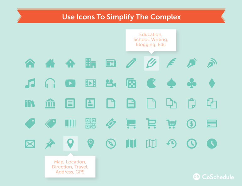 how to design blog graphics with icons to simplify the complex