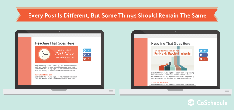 how to design blog graphics for consistency