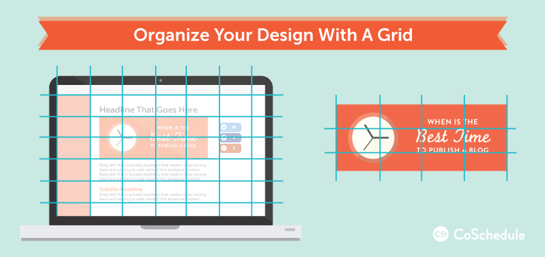 how to design blog graphics with an alignment grid