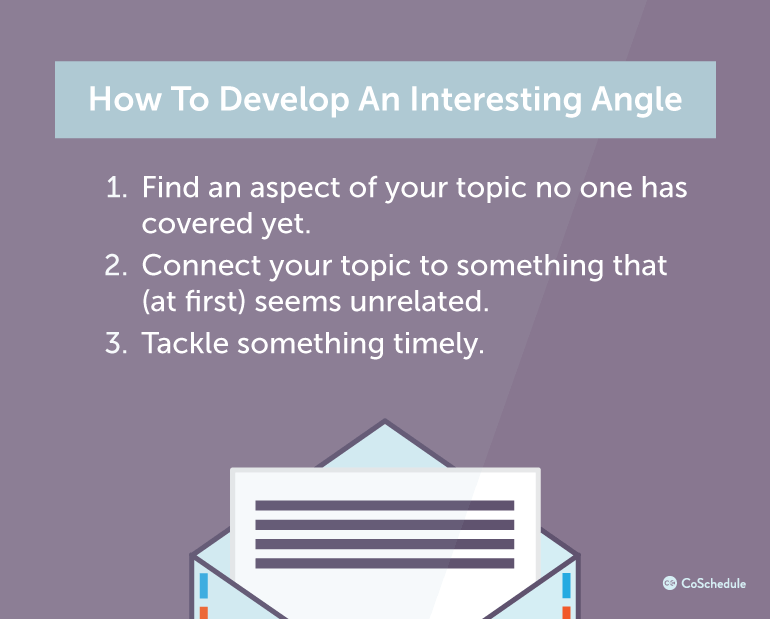 How To Develop An Interesting Angle