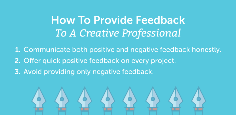 How to Provide Feedback to a Creative Professional