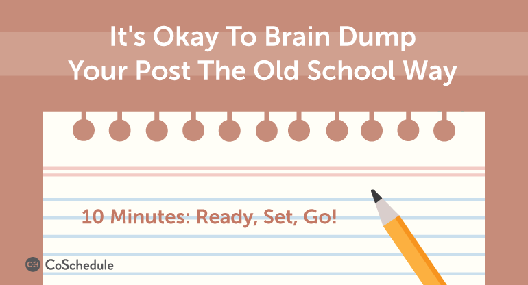 how to plan a blog post with a brain dump