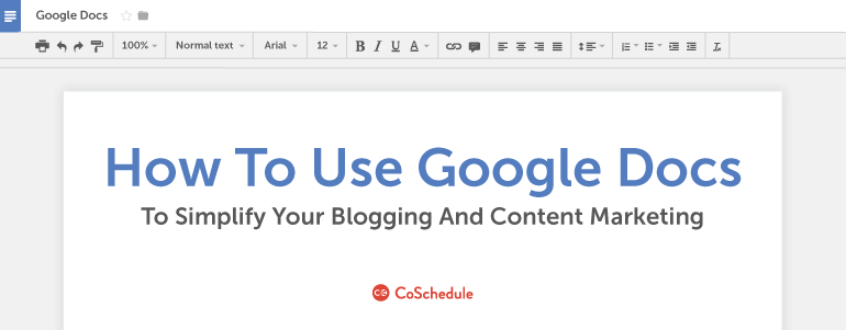 How To Use Google Docs For Blogging And Marketing - Google docs google docs