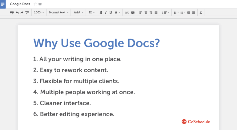 Why to use Google Docs