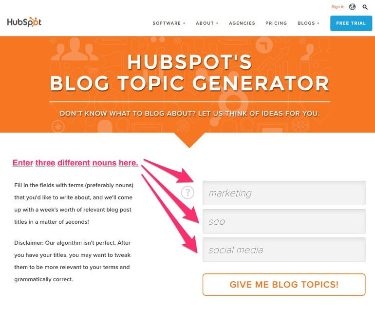 How to use the Hubspot Blog Topic Generator