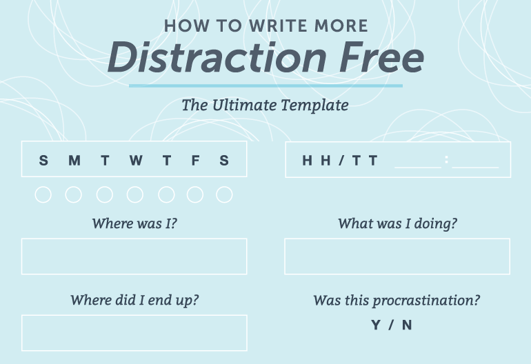 how to write more with distraction-free writing