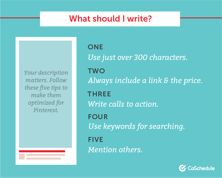 How to Write Pins: What Should You Write?