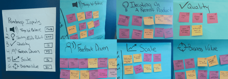 Collection of idea board images