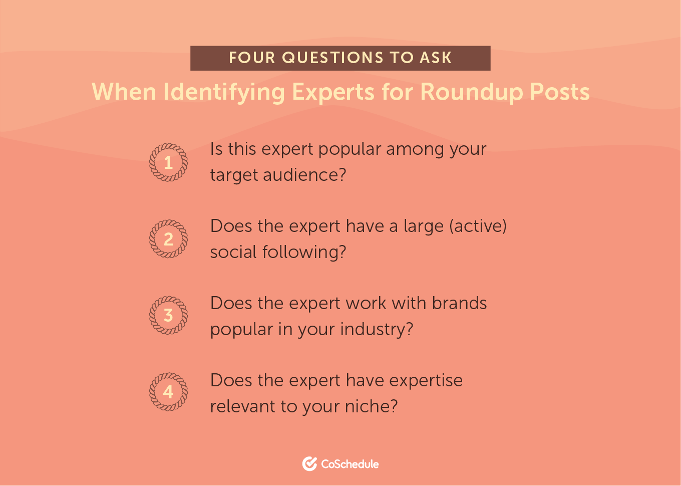 Four Questions to Ask When Identifying Experts for Roundup Posts