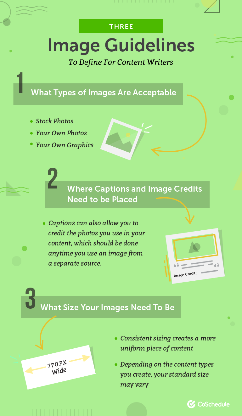 Three Image Guidelines to Define For Content Writers