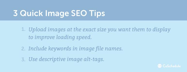 3 Quick Image SEO Tips