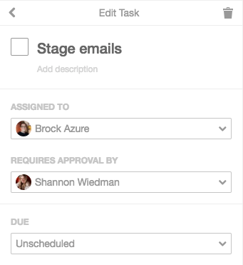 Task approvals in CoSchedule