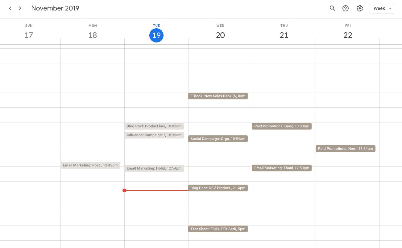 Calendar sync example