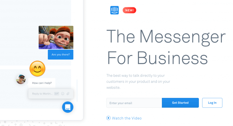 Screenshot from in-app messenger
