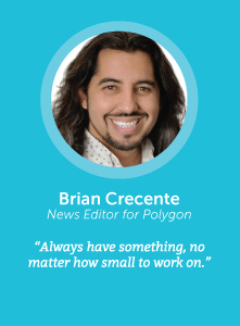 how to increase productivity with Brian Crecente