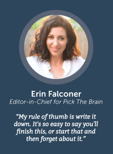 how to increase productivity with Erin Falconer