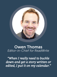 how to increase productivity with Owen Thomas