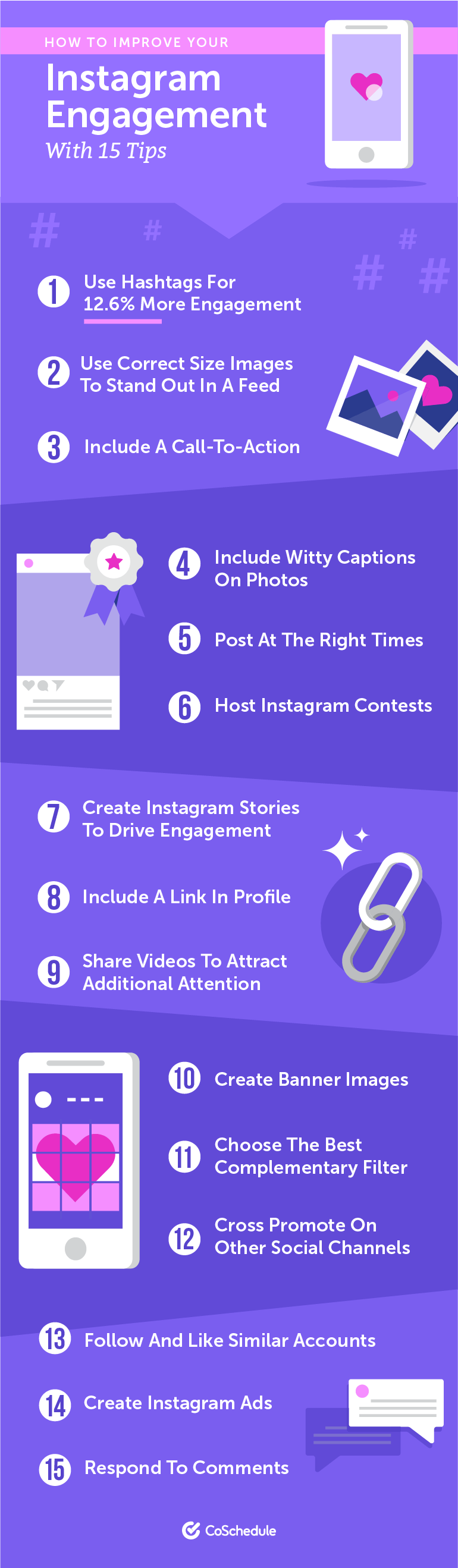 15 Ways to Improve Instagram Engagement: An Infographic
