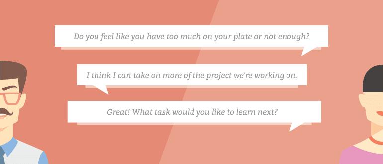 Intern / Mentor Conversation Graphic