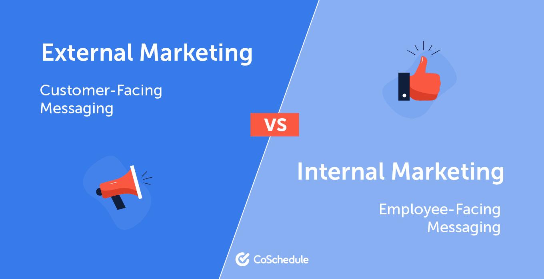 Internal vs external marketing strategy comparison