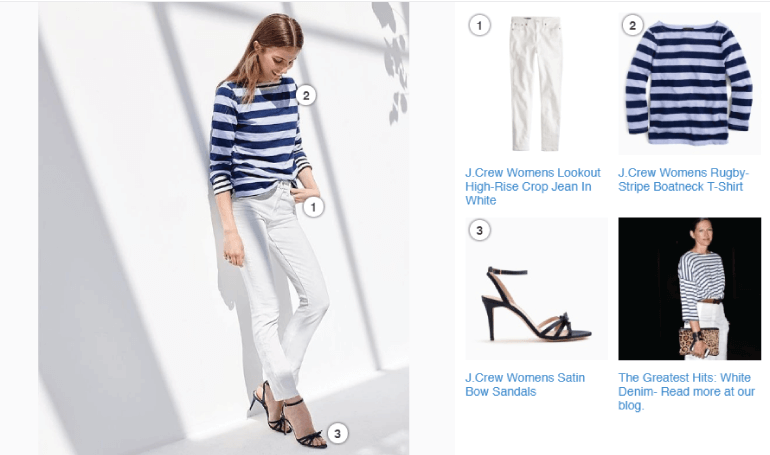 Product screenshots from J Crew