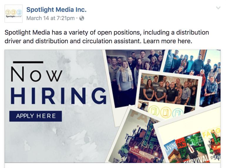 Job listing post