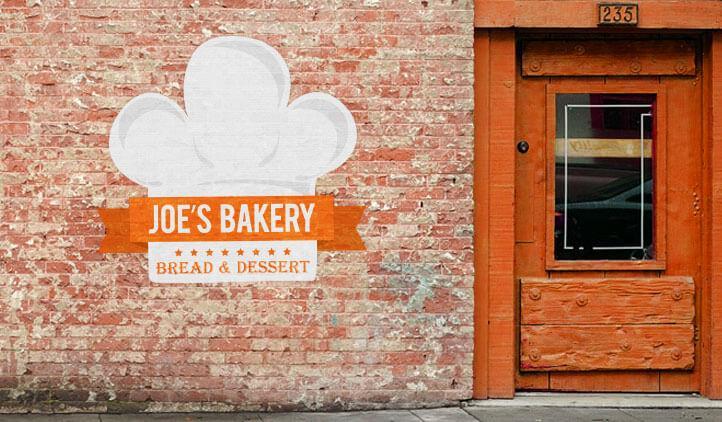 Example of wall art from Joe's Bakery