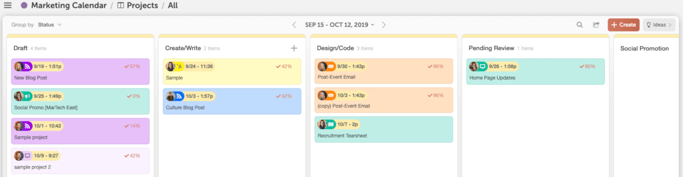 Example of the Kanban Project Dashboard