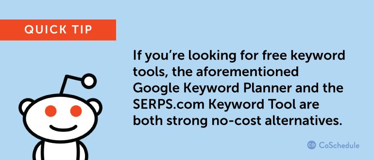 Quick tip for keyword research