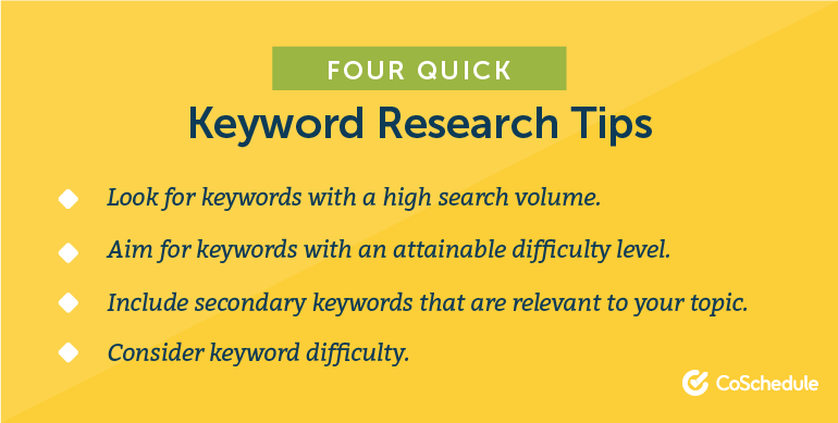 Quick keyword research tips