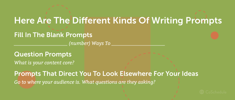 Here Are Some Different Kinds Of Writing Prompts