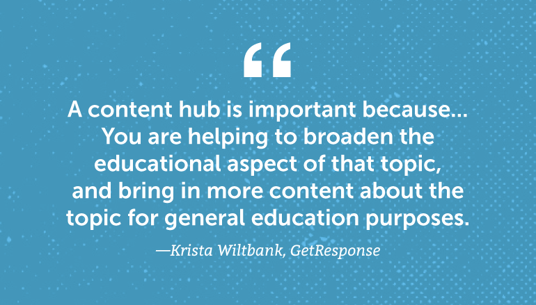 A content hub is important because ...